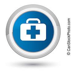 Medical bag icon prime blue round button