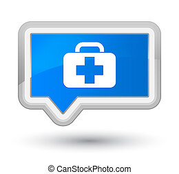 Medical bag icon prime cyan blue banner button