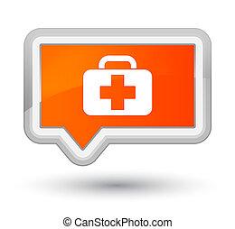 Medical bag icon prime orange banner button