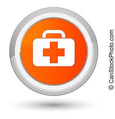 Medical bag icon prime orange round button