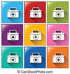 Medical bag icons