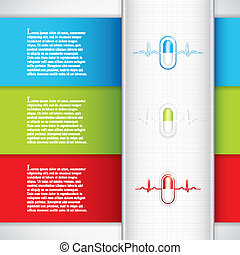 Medical banners - Alternative medication concept - three...