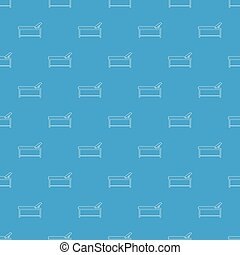 Medical bed pattern vector seamless blue