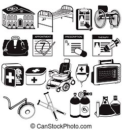 medical black icons 2