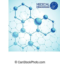 Medical Blue Background Illustration