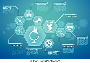 Medical Blue Background Poster