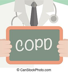 Medical Board COPD - minimalistic illustration of a doctor...