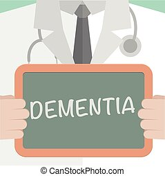 Medical Board Dementia - minimalistic illustration of a...