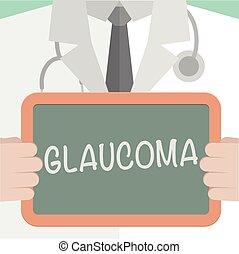 Medical Board Glaucoma - minimalistic illustration of a ...