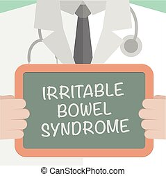 Medical Board IBS - minimalistic illustration of a doctor...