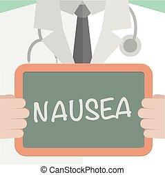 Medical Board Nausea - minimalistic illustration of a doctor...