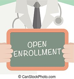 Medical Board Open Enrollment - minimalistic illustration of...