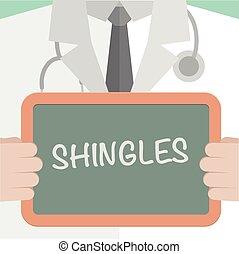 Medical Board Shingles - minimalistic illustration of a ...