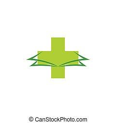 medical book symbol logo vector