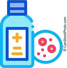 medical bottle for dermatitis icon vector outline ...