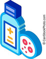 medical bottle for dermatitis isometric icon vector ...