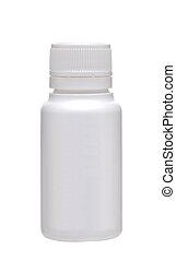 Medical bottle on white background