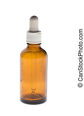 Medical bottle with pipette - object on white - Medical...