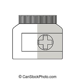medical bottles icon