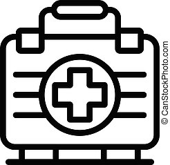 Medical box icon, outline style