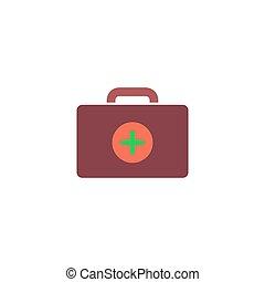 Medical box Icon Vector