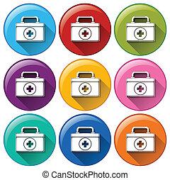 Medical box icons
