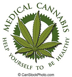 Illustration of medical cannabis as a symbol of health.