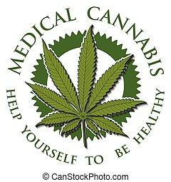 Medical Cannabis-emblem - Illustration of medical cannabis ...