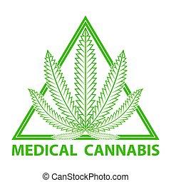 Medical cannabis (marijuana) logo.