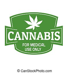 Medical cannabis sign or stamp