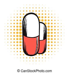Medical capsule comics icon