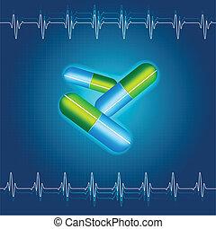 Medical Capsule - illustration of medical capsule on...