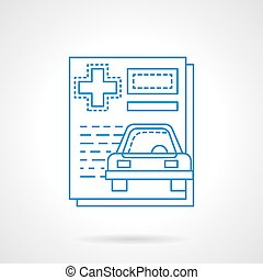 Insurance Car Policy Paper Icon Vector Illustration Eps 10