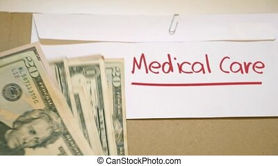 Medical Care costs concept