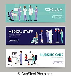 Medical Care Horizontal Banners - Medical care horizontal...