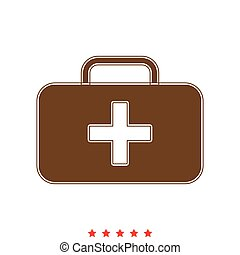 Medical case it is icon .