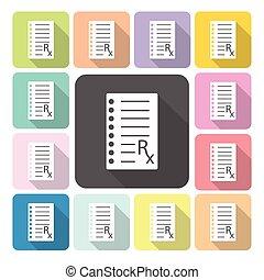 Medical Checklist Icon color set vector illustration