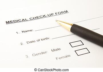 Medical checkup form
