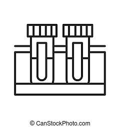medical chemistry test tubes equipment line icon