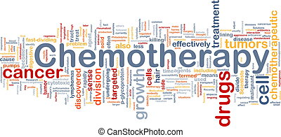 Background concept wordcloud illustration of medical chemotherapy treatment