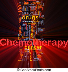 Medical chemotherapy background concept glowing - Background...
