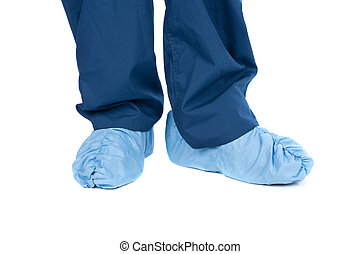 Medical clothing - A doctor wearing protective medical...