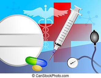 Medical Collage - Collage of medical items.