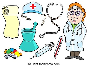 Medical collection - isolated illustration.