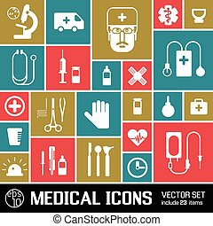 Medical Colored Icons Set
