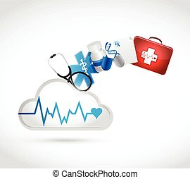 medical concept cloud illustration