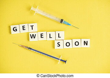 Medical concept for text Get Well Soon