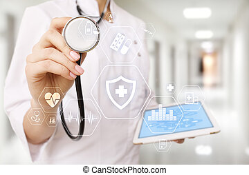 Medical concept. Health protection. Modern technology in medicine.