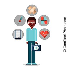 medical concept set icons