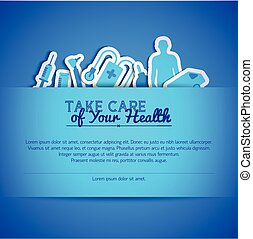 Medical concept text field - Medical concept with health...